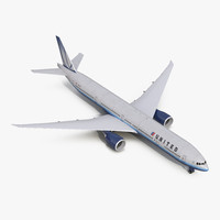 boeing 777-300 united airlines 3d max