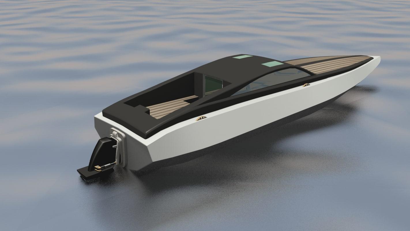 3d model concept speedboat