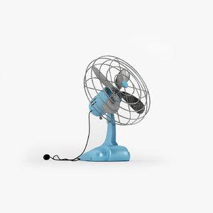 3d model of vintage ventilating fan