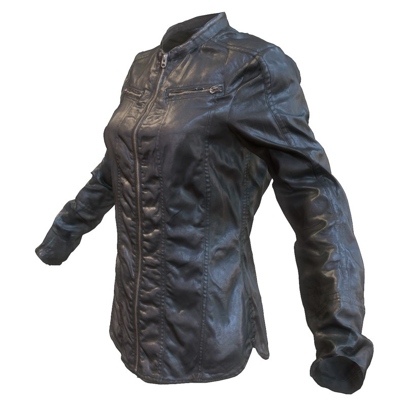 3d leather shirt model
