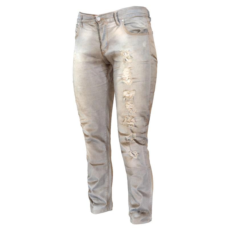 jeans grey pants obj