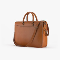 Marston Briefcase In Caramel Leather