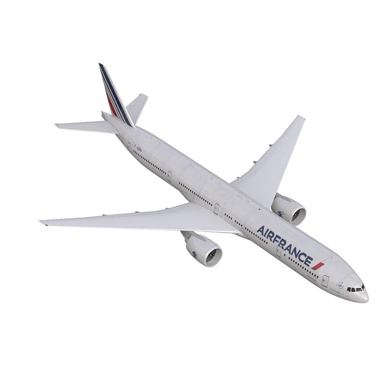 boeing 777-300 air france 3d max
