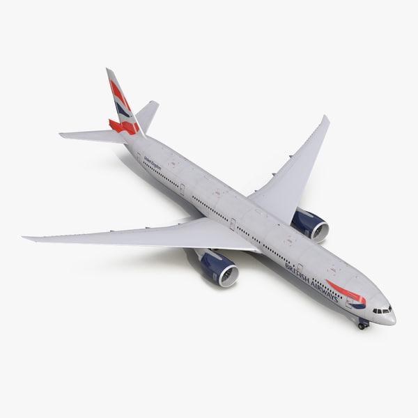 boeing 777-300 british airways 3d 3ds