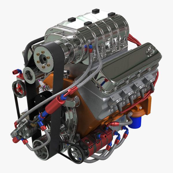 3d model diesel engine