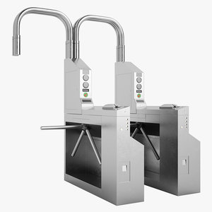 3d model of turnstile subway