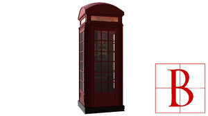 3d model of telephone booth