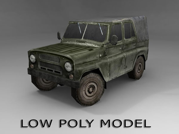 obj uaz-469 vehicle ready