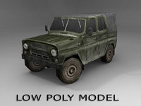 obj uaz-469 vehicle ready