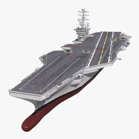 USS Abraham lincoln CVN-72 3D Model