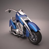 cartoon motorcycle 3d fbx