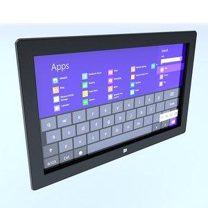 3d model surface tablet