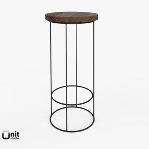 3d model denton bar stool seat