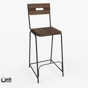 percy bar chair 3d 3ds