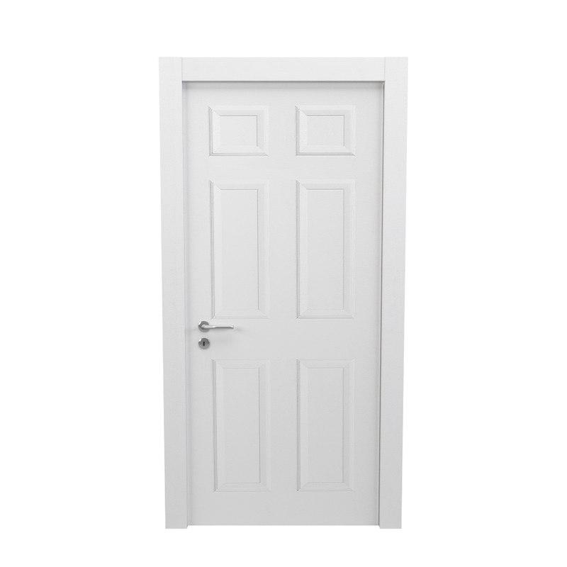 white panel door 3d 3ds