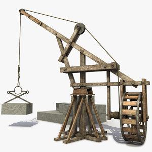 wooden crane medieval max