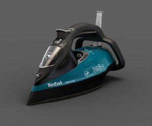 3d model iron tefal anti