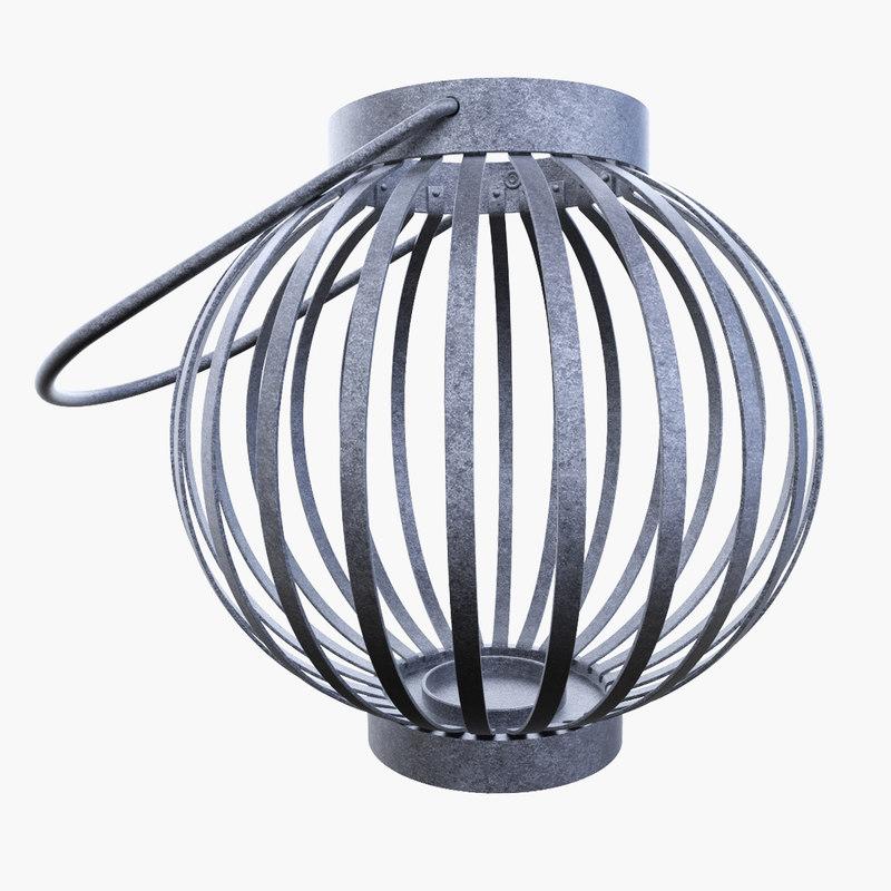3d asian lantern
