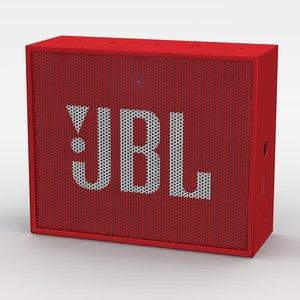3d model jbl red bluetooth portable