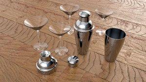 shaker glasses 3d model