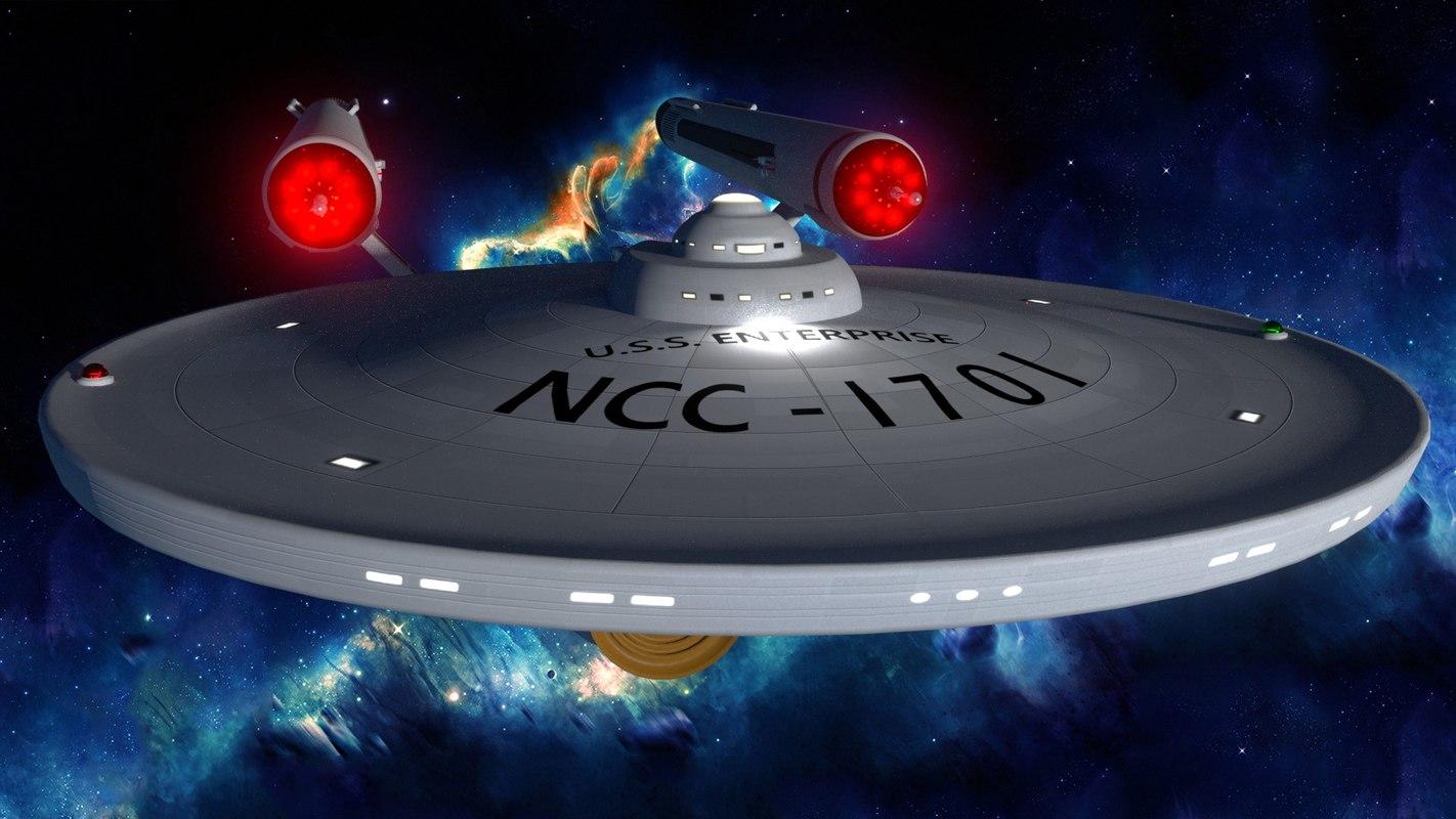 3d model original starship enterprise