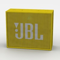 jbl yellow bluetooth portable 3d model