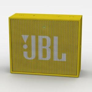 jbl yellow bluetooth portable 3d model