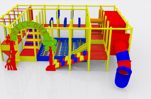 indoor playground kids 3d max
