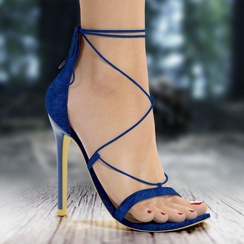 heel shoe 3d max
