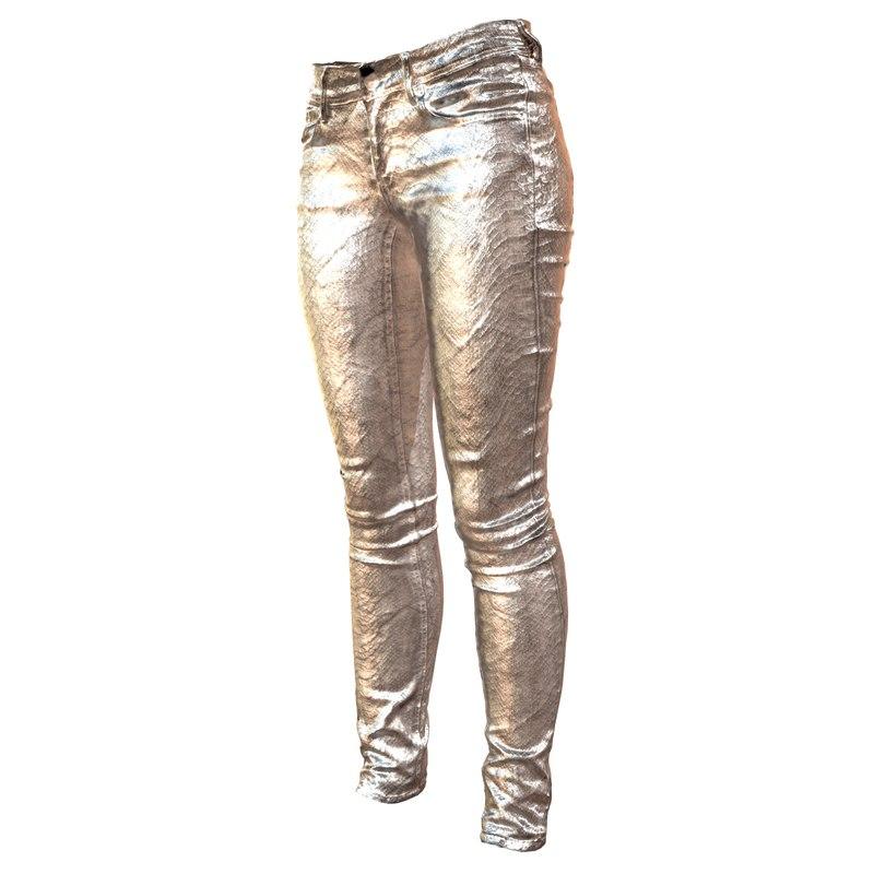 silver pants 3d model