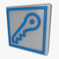 icon key 3d obj
