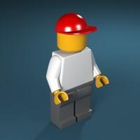 3d obj lego figure