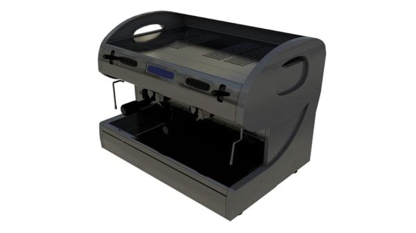 3d coffee machine model