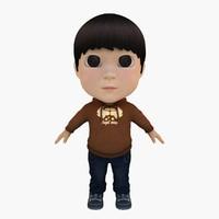 3d model boy hoodie
