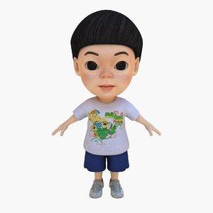 cute boy 3d max