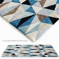 Cologne geometric wool rug