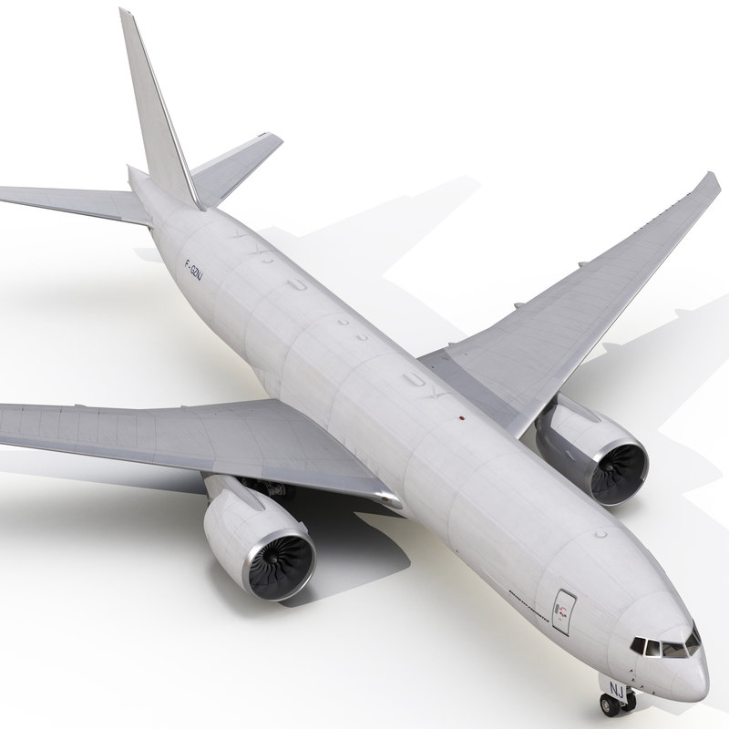 3d boeing 777 freighter generic model