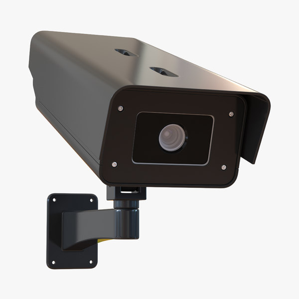3d cctv camera black