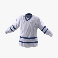 hockey jersey generic 5 3d model