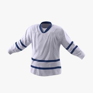 hockey jersey generic 5 3d model