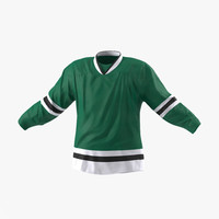 3d hockey jersey generic model