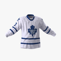 3d hockey jersey toronto maple model