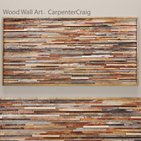 wood wall art obj