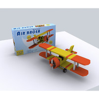 3d model toy propeller aircraft -
