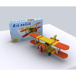 3d model toy propeller aircraft -