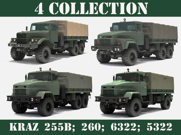 x ukrainian military trucks kraz