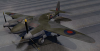 dehavilland mosquito mk-6 fighter 3d model