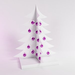 modern christmas tree max