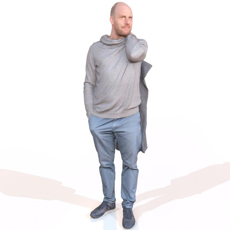 3d casual man model