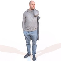 3d casual man model